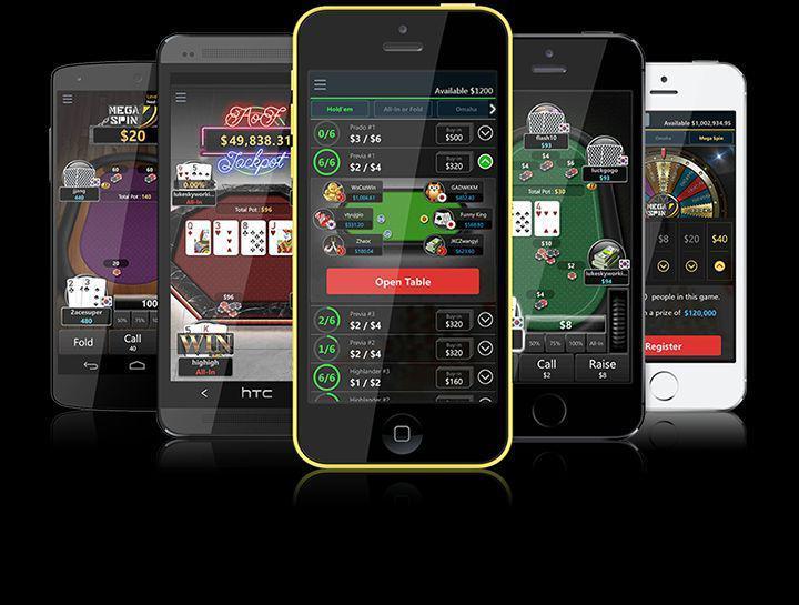 Приложение ПокерОК на мобильный телефон