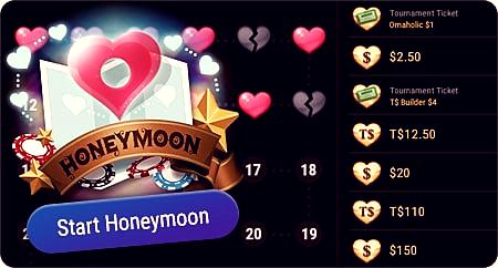 медовый месяц на ПокерОк